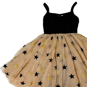 Other - Black and gold/beige sparkle tutu toddler dress